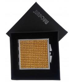 Kosmetické zrcátko zlaté čtvercové